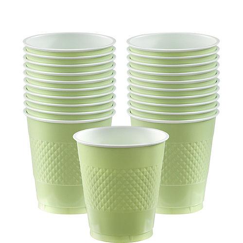 Leaf Green Plastic Cups 20ct Image #1