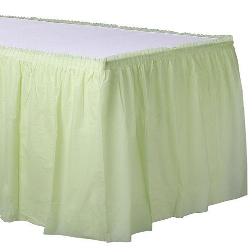 Leaf Green Plastic Table Skirt Image #1