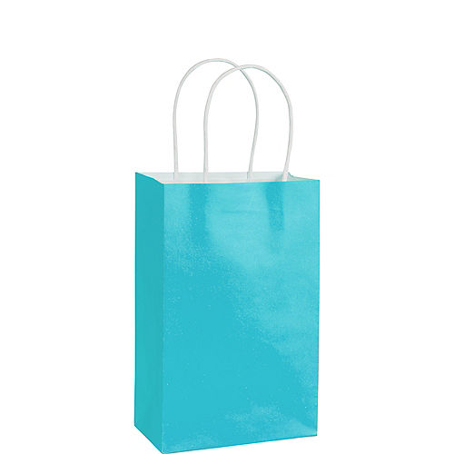 Small Caribbean Blue Paper Gift Bag Image #1