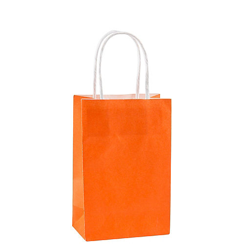 Small Orange Paper Gift Bag Image #1