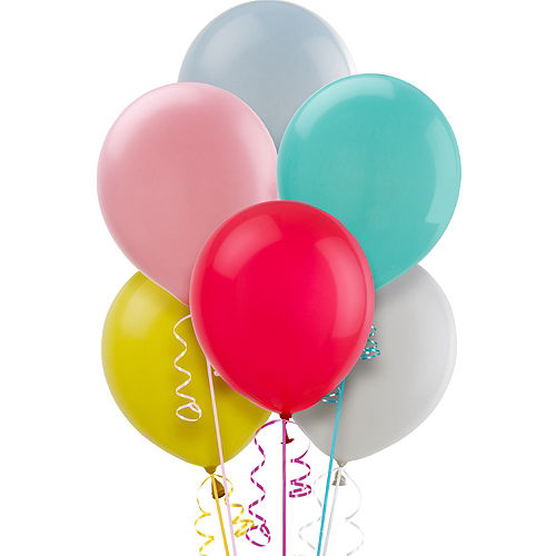 Assorted Pastel Balloons 15ct, 12in Image #1