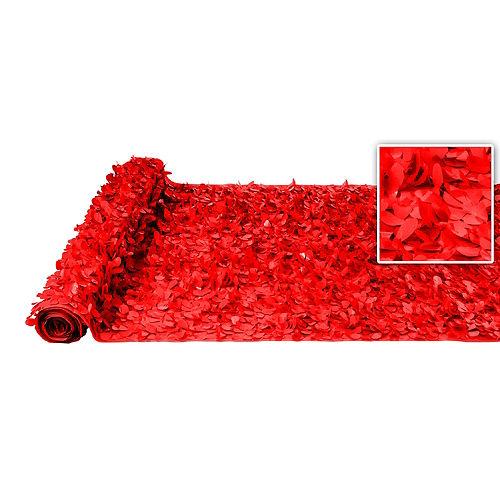 Red Vinyl Floral Sheeting Image #1