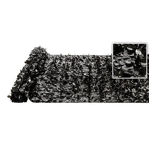 Black Vinyl Floral Sheeting Image #1