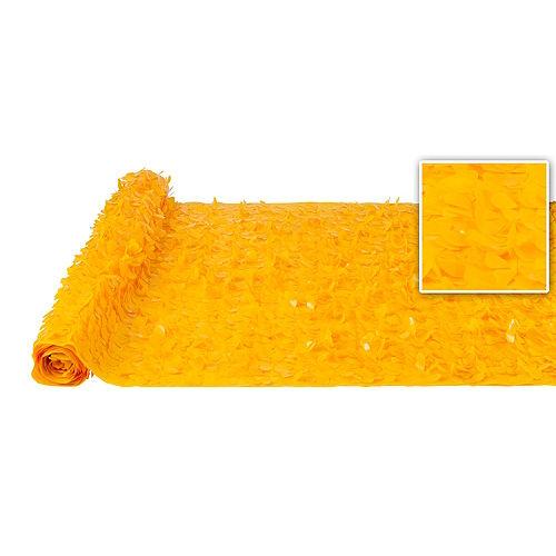 Sunshine Yellow Vinyl Floral Sheeting Image #1