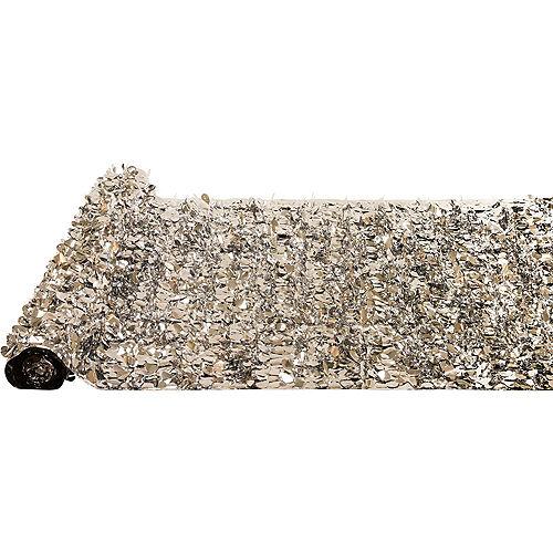 Silver Metallic Floral Sheeting Image #2