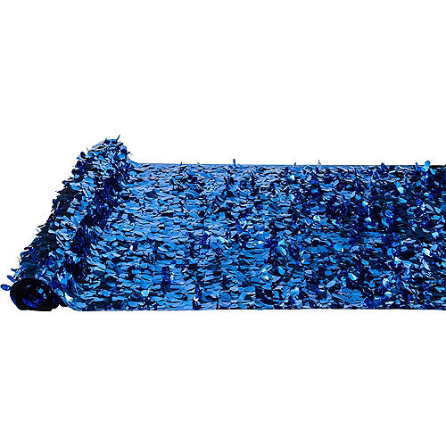 Royal Blue Metallic Floral Sheeting Image #2