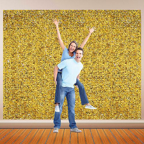 Gold Metallic Floral Sheeting Image #1