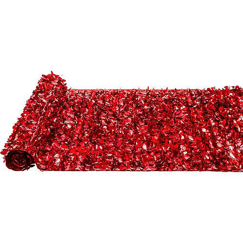 Red Metallic Floral Sheeting Image #2