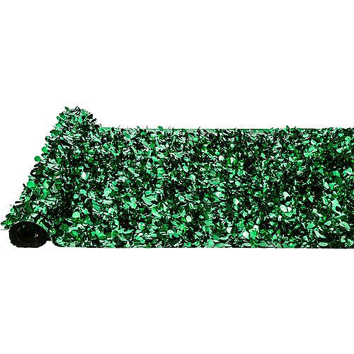 Festive Green Metallic Floral Sheeting Image #2