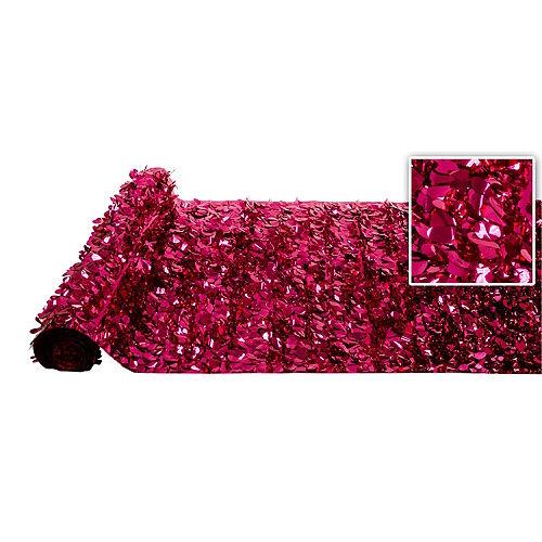 Bright Pink Metallic Floral Sheeting Image #1