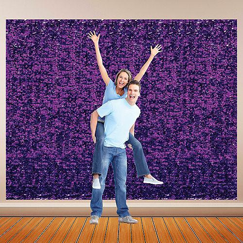 Purple Metallic Floral Sheeting Image #1