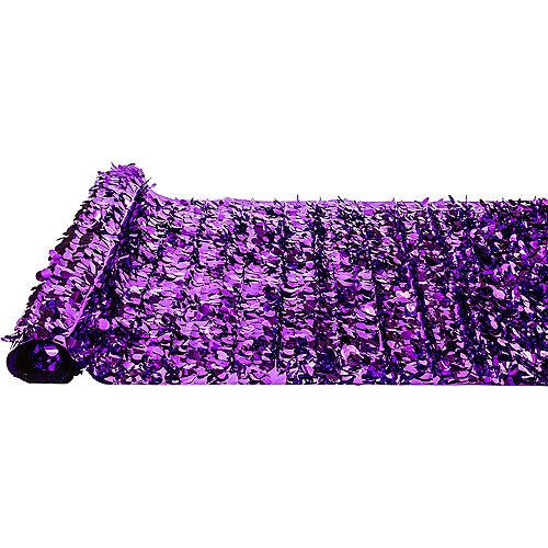 Purple Metallic Floral Sheeting Image #2
