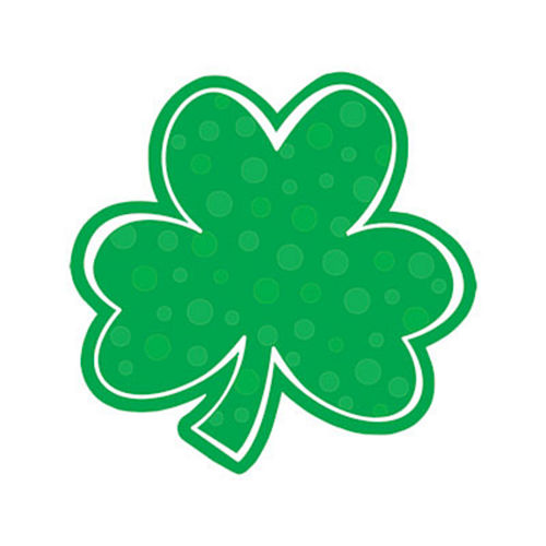 Nav Item for Polka Dot Shamrock Cutout Image #1