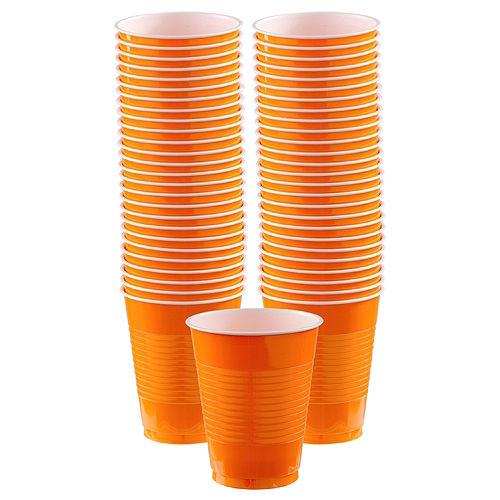 Orange Plastic Cups, 16oz, 50ct Image #1
