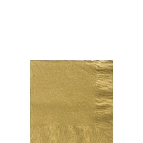 Big Party Pack Gold Beverage Napkins 125ct Image #1