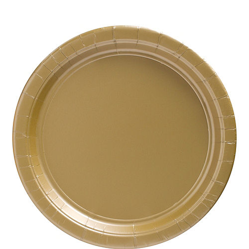 Gold Paper Lunch Plates, 9in, 50ct Image #1