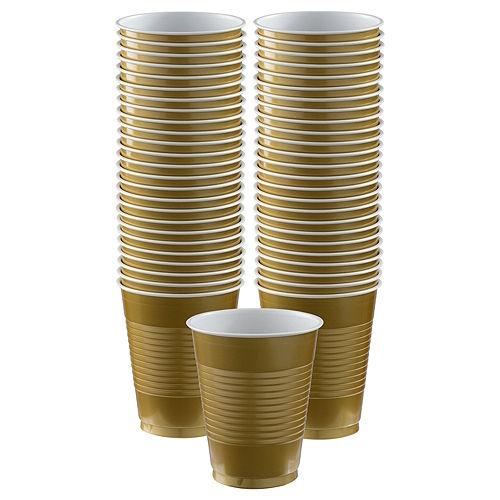 Gold Plastic Cups, 16oz, 50ct Image #1