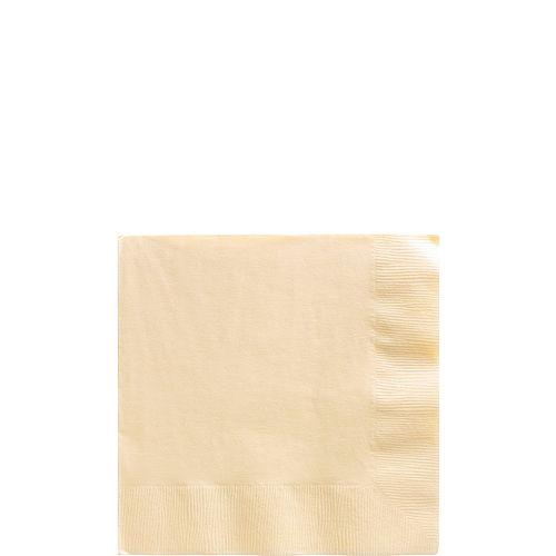 Big Party Pack Vanilla Cream Beverage Napkins 125ct Image #1