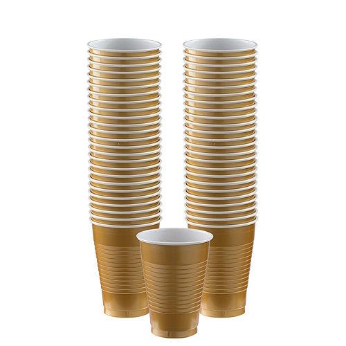Gold Plastic Cups, 12oz, 50ct Image #1