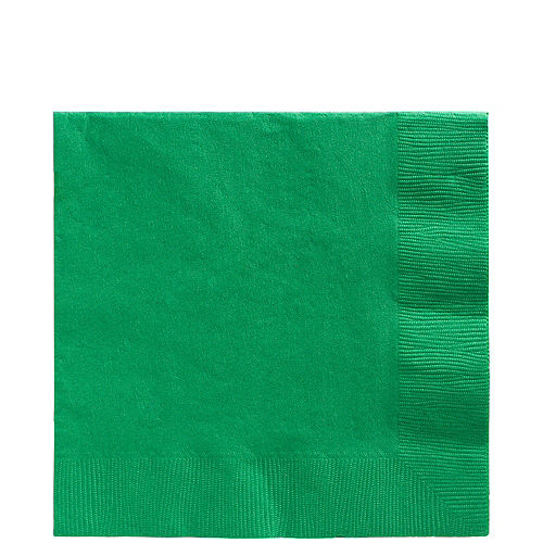 Festive Green Paper Lunch Napkins, 6.5in, 40ct Image #1