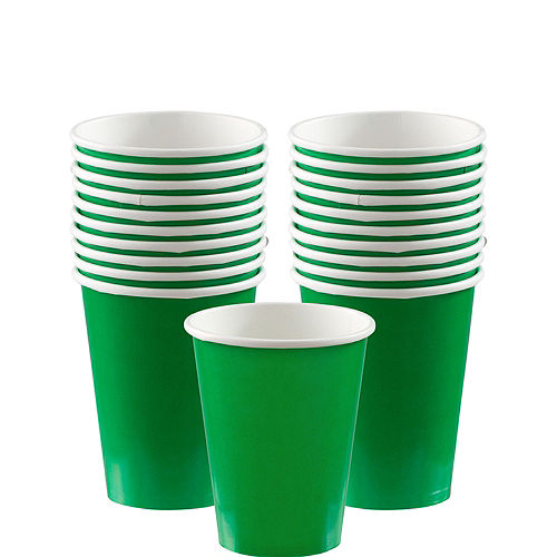 Festive Green Paper Cups 20ct Image #1
