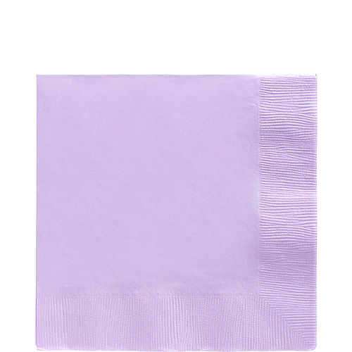 Lavender Paper Lunch Napkins, 6.5in, 40ct Image #1