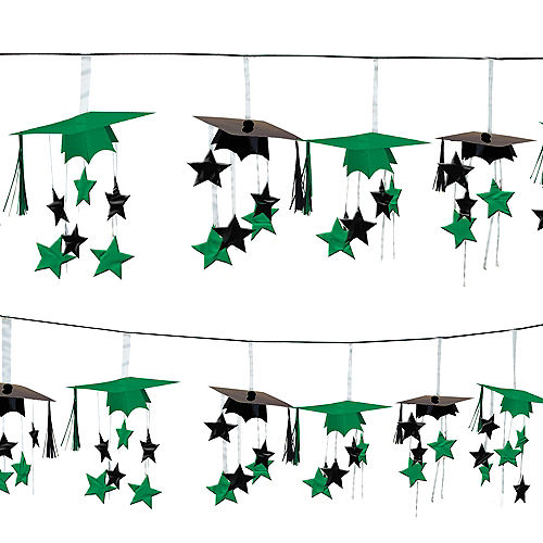 Nav Item for Green 3D Grad Cap Graduation Garland Image #1