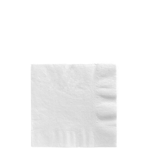 White Paper Beverage Napkins, 5in, 40ct Image #1