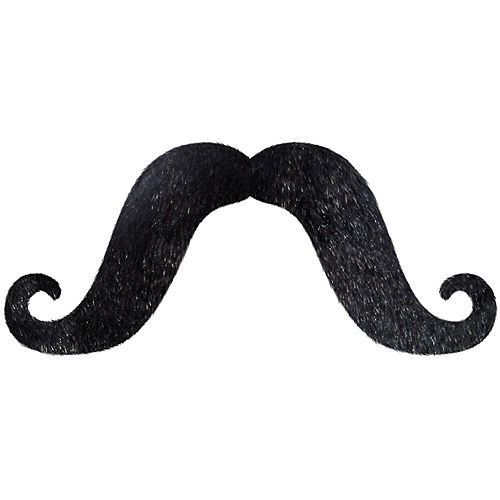 Long Black Handlebar Moustache Image #1