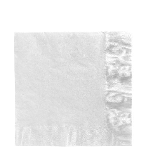 White Lunch Napkins 50ct Image #1
