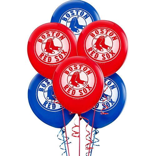Boston Red Sox Balloons 6ct Image #1