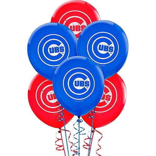 Chicago Cubs Balloons 6ct Image #1