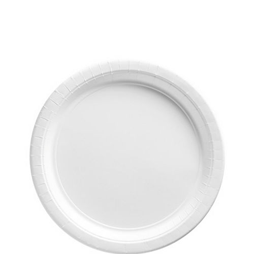 White Paper Dessert Plates, 6.75in, 20ct Image #1