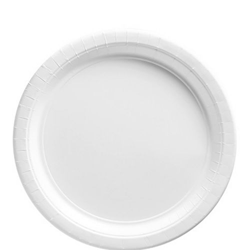 White Paper Lunch Plates, 8.5in, 20ct Image #1