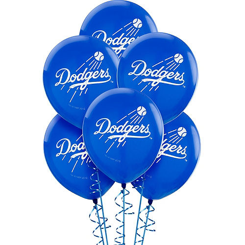 Nav Item for Los Angeles Dodgers Balloons 6ct Image #1