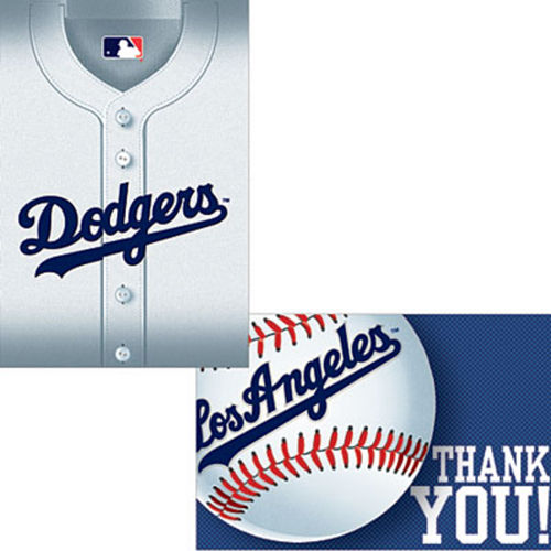 Los Angeles Dodgers Invitations & Thank You Notes for 8 Image #1