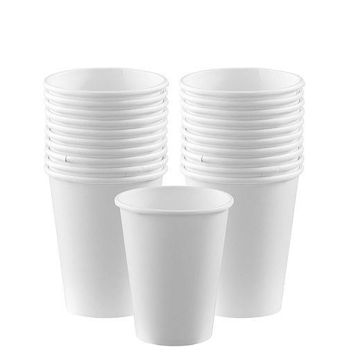 White Paper Cups 20ct Image #1