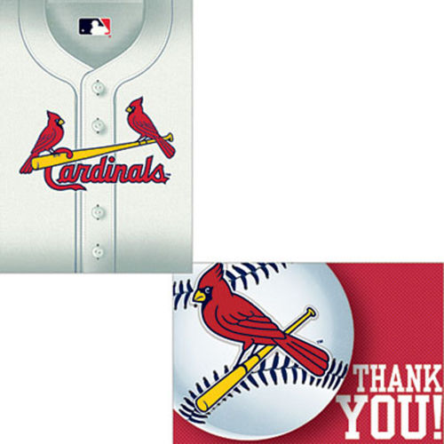 St. Louis Cardinals Invitations & Thank You Notes for 8 Image #1