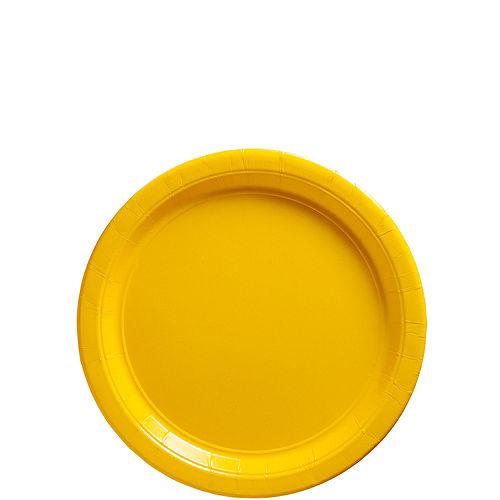 Sunshine Yellow Paper Dessert Plates 20ct Image #1