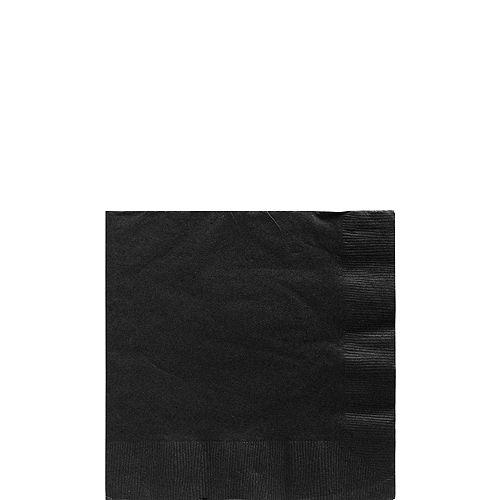 Black Paper Beverage Napkins, 5in, 40ct Image #1
