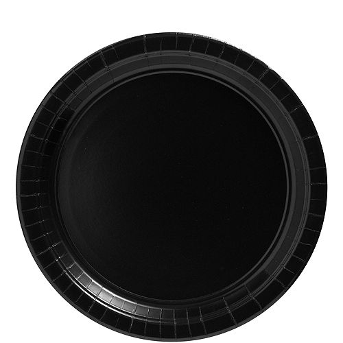 Black Paper Lunch Plates 20ct Image #1