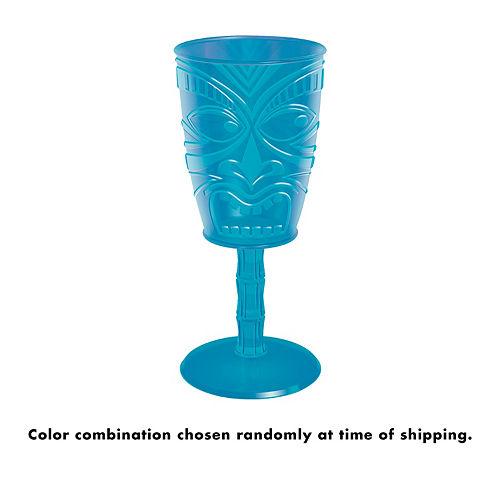 Tiki Plastic Wine Glass 14oz Image #2