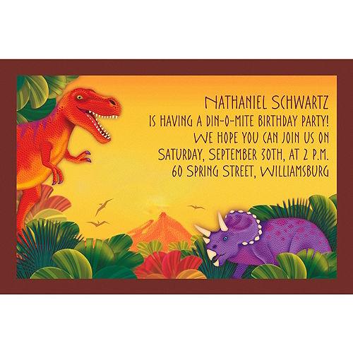 Custom Prehistoric Dinosaurs Invitations Image #1