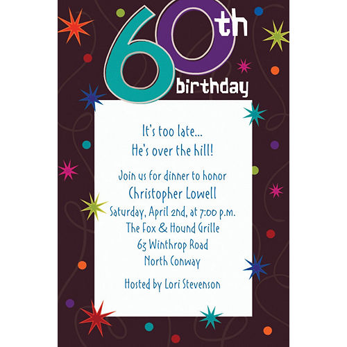 Custom The Party Continues 60th Birthday Invitations Image #1