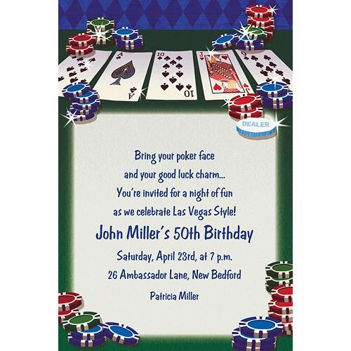 Custom Texas Hold'em Invitations Image #1