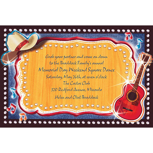 Custom Country Western Invitations Image #1