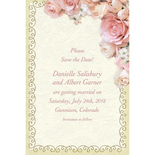 Custom Dazzling Bouquet Bridal Shower Invitations Image #1