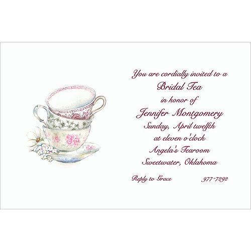 Custom China Teacups Bridal Shower Invitations Image #1