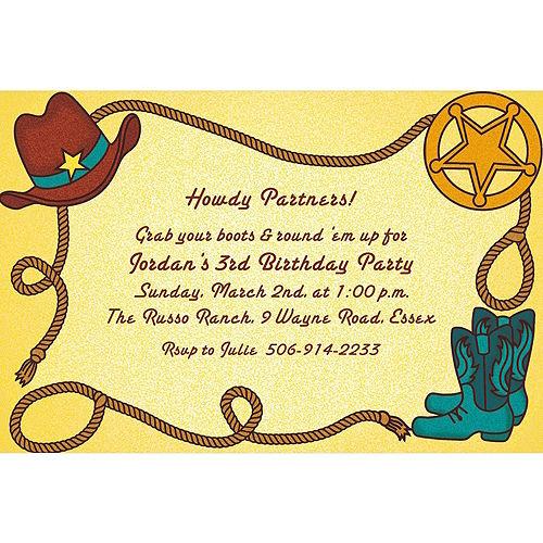 Custom Little Cowboy Motif Invitations Image #1
