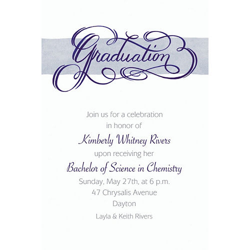 Custom Calligraphic Graduation Invitations  Image #1